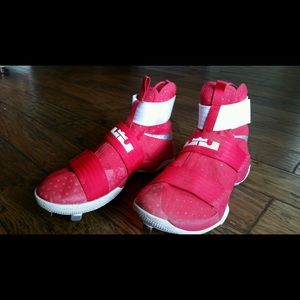 huge selection of 5d7ed fdbe2 Nike Shoes - Nike Lebron Soldier 10 custom baseball cleats